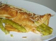 Crespelle agli asparagi, bacon e ricotta
